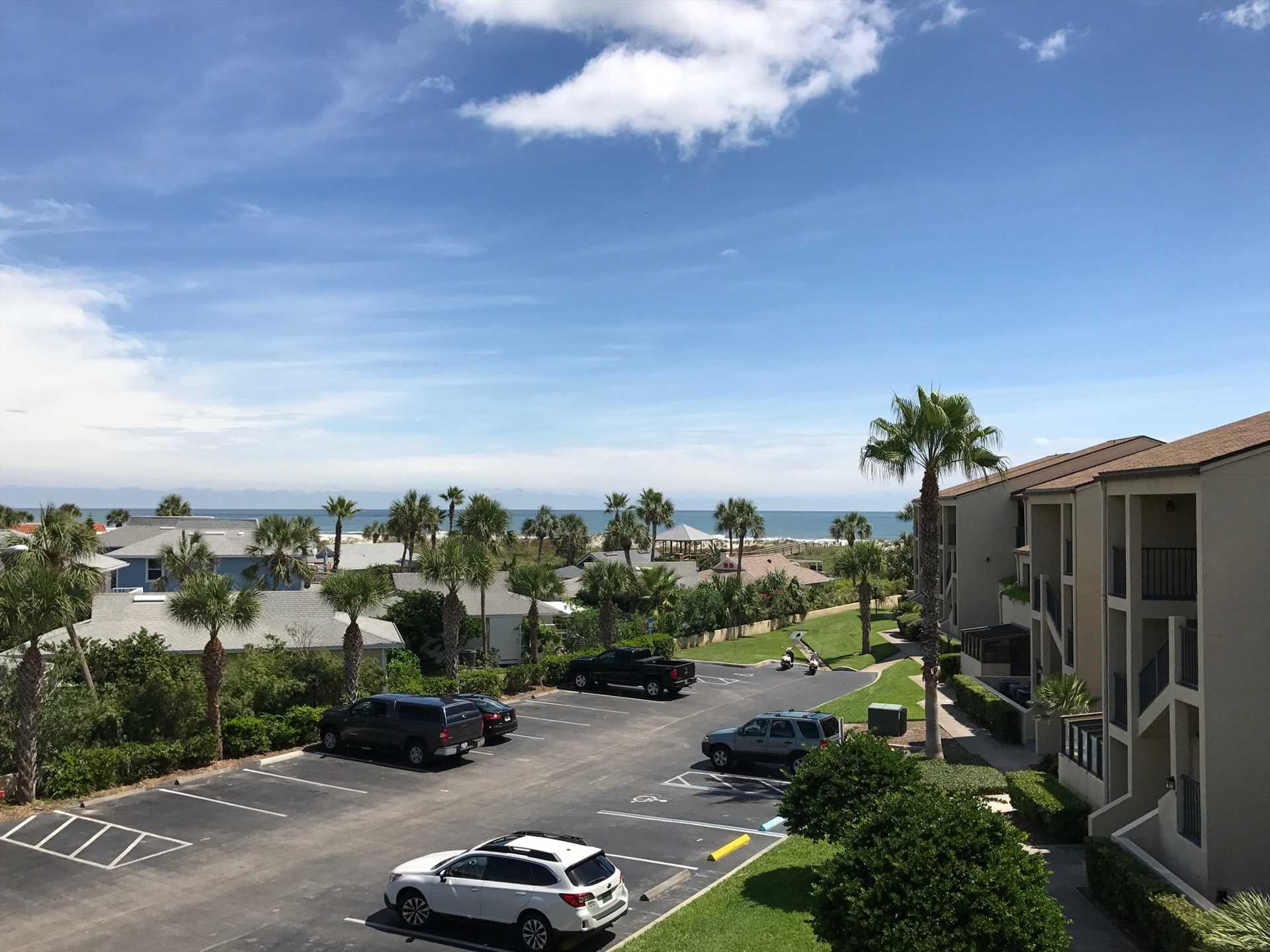 View of Ocean from Living Area and two balconies
