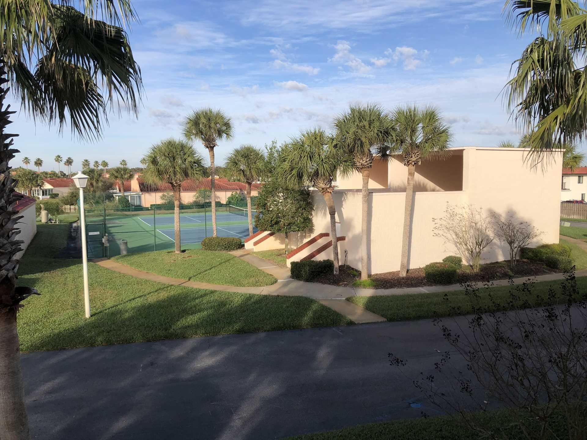 Racketball & Basketball across from Condo