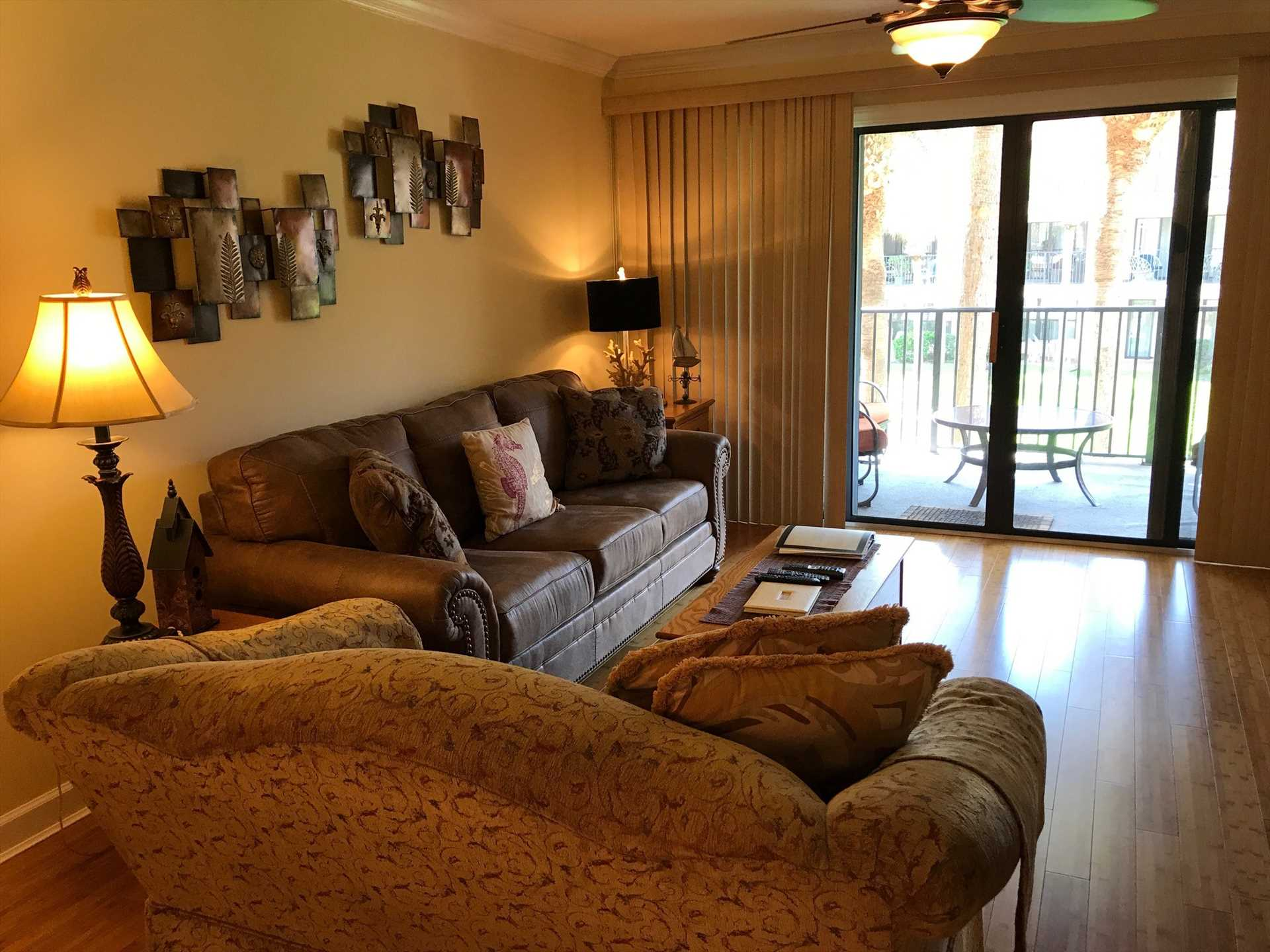 Living Room w/new sofa sleeper