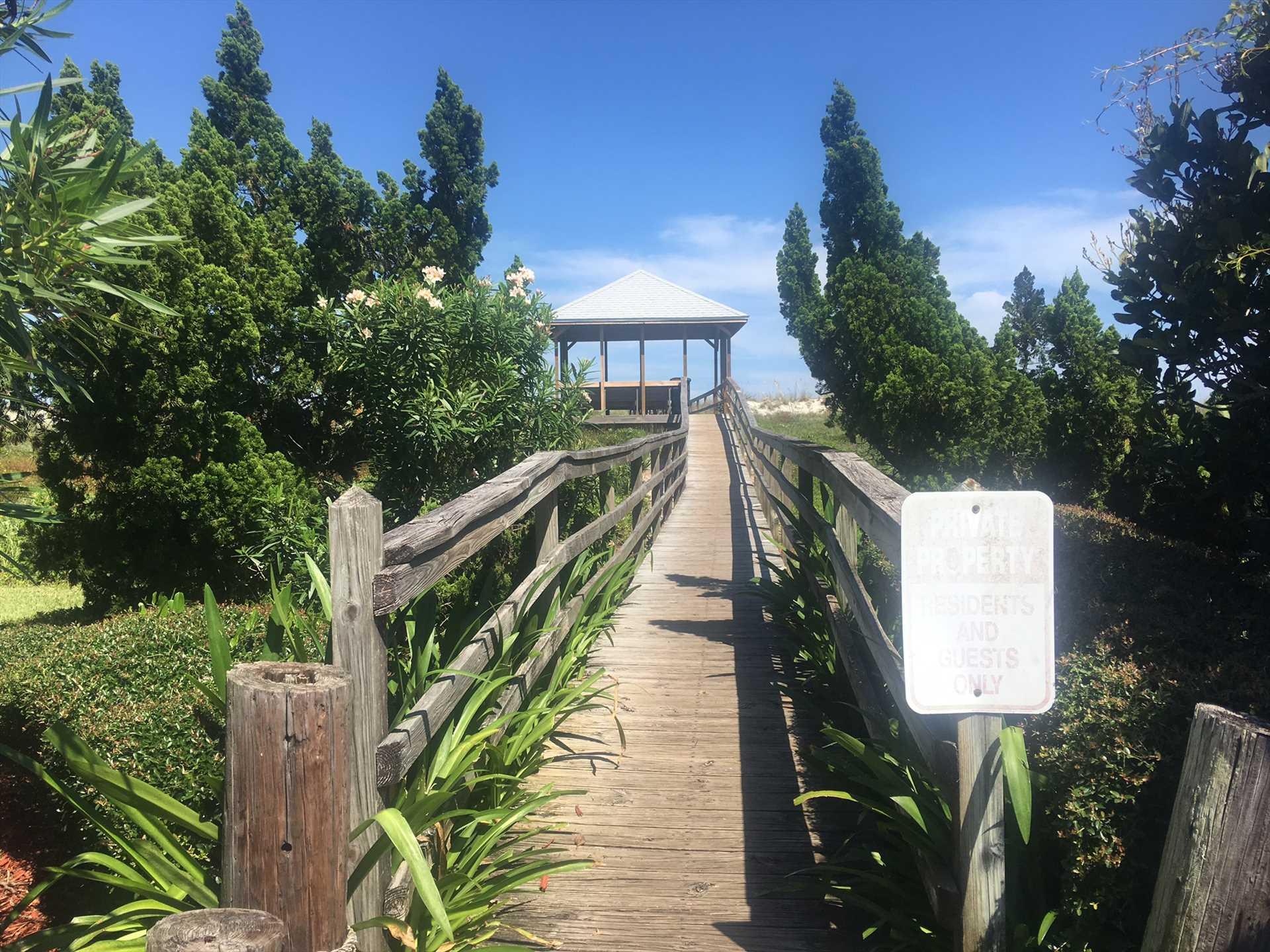 Entrance to Boardwalk Gazebo