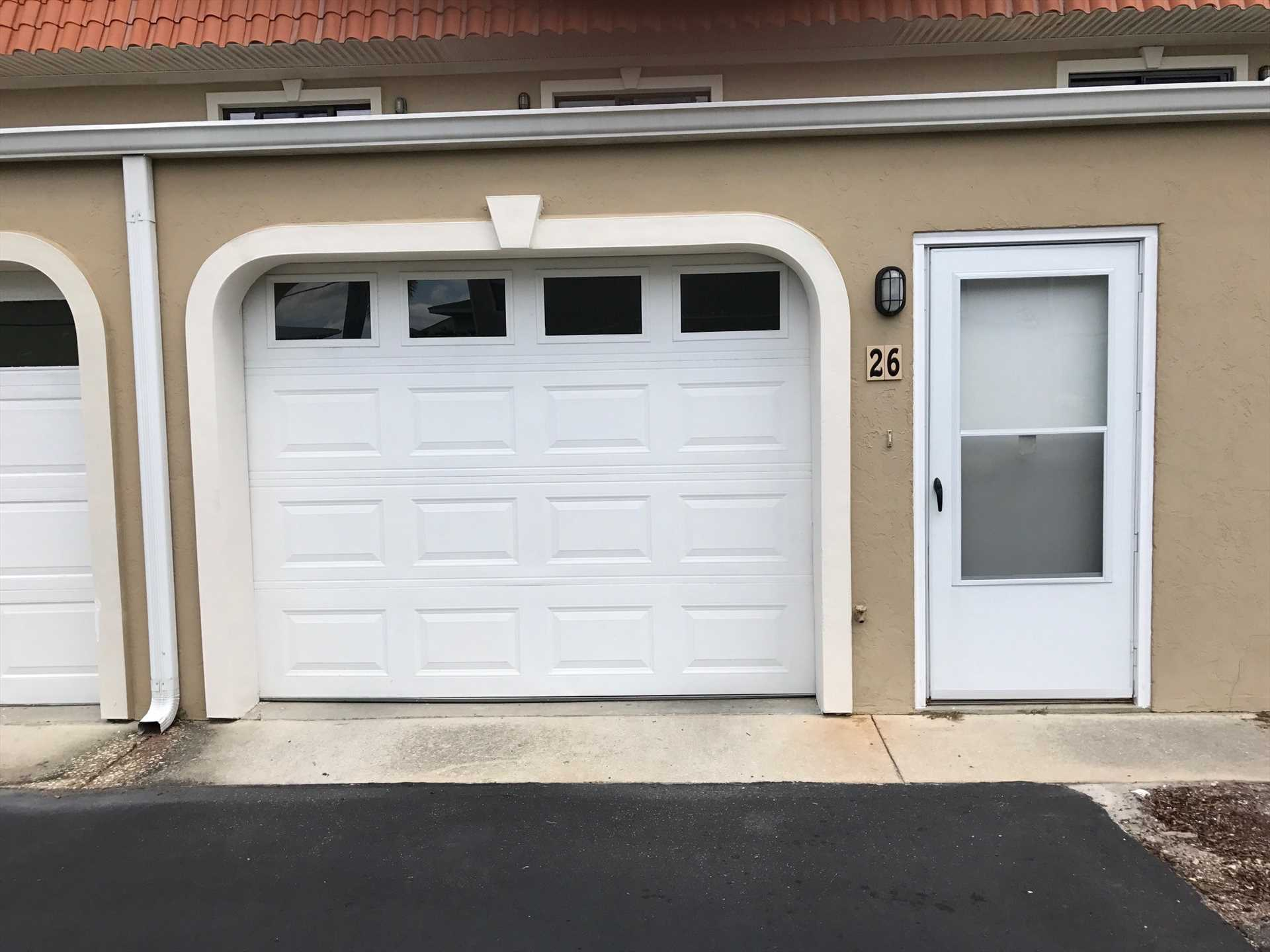 Front entrance through garage