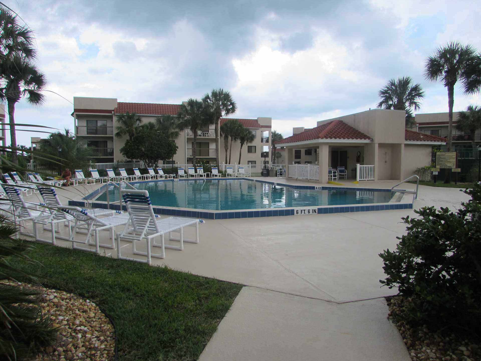 Large Pool & Sundeck behind Clubhouse